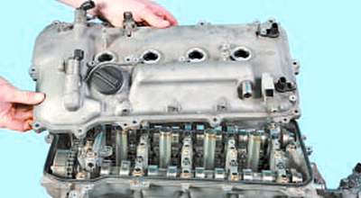 Проверка, промывка и замена гидрокомпенсаторов зазоров привода клапанов двигателей 1NR-FE и 1ZR-FE Тойота Королла 10 Аурис