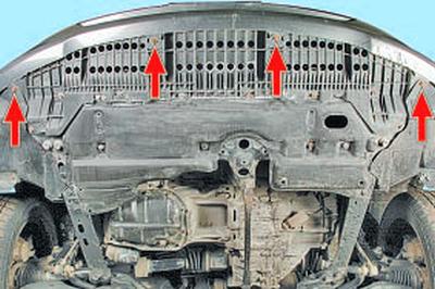 Снятие и установка брызговиков двигателя Тойота Королла 10 Аурис