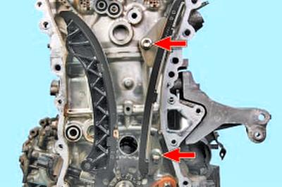 Снятие и установка цепи привода газораспределительного механизма Тойота Королла 10 Аурис