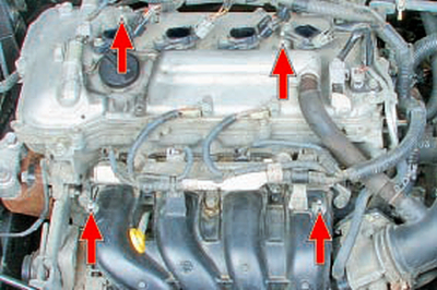 Снятие и установка декоративного кожуха двигателя Тойота Королла 10 Аурис