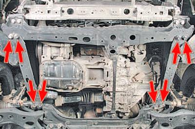 Замена передней опоры подвески силового агрегата Тойота Королла 10 Аурис