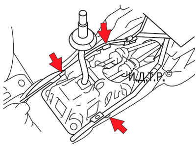 Снятие и установка кулисы рычага управления механической коробкой передач Тойота Королла 10 Аурис