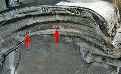 Снятие и установка брызговиков колес и подкрылков Тойота Королла Аурис E150