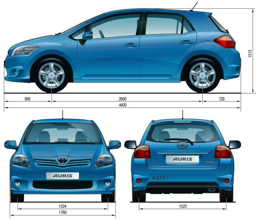 Особенности конструкции автомобиля Toyota Auris Тойота Королла 10 Аурис