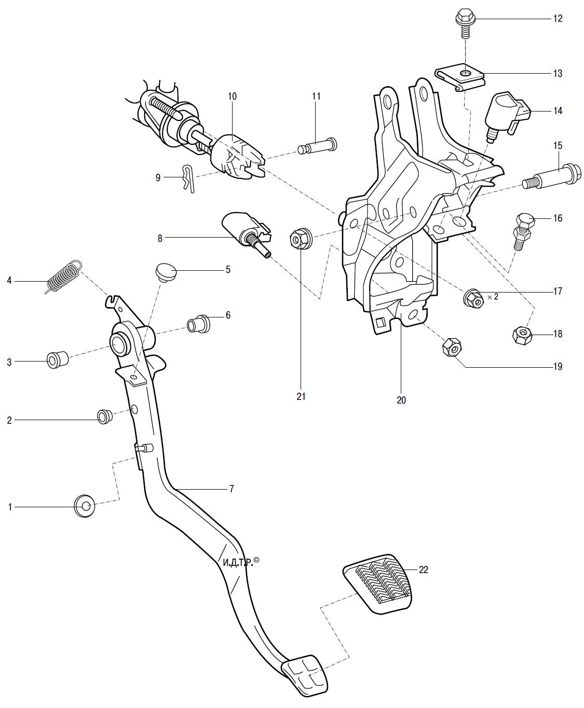 Ремонт педального узла Тойота Королла 10 Аурис