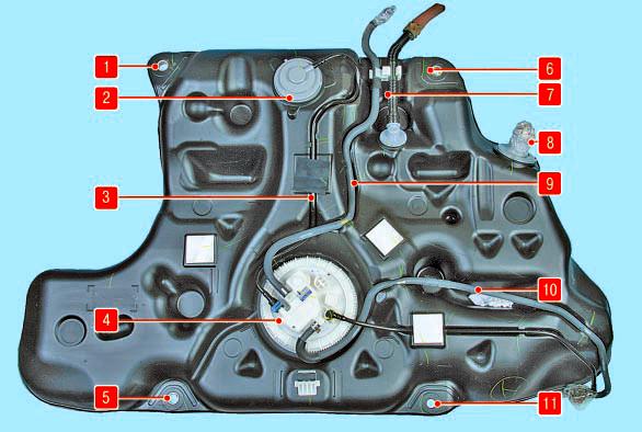 Система улавливания паров топлива Тойота Королла 10 Аурис