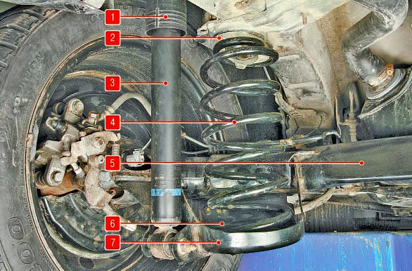 Задняя подвеска Тойота Королла 10 Аурис